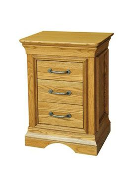 French Style Oak Bedside Chest