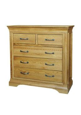 French Style Oak 2 Over 3 Chest