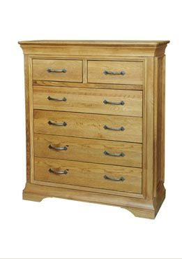 French Style Oak 2 Over 4 Chest