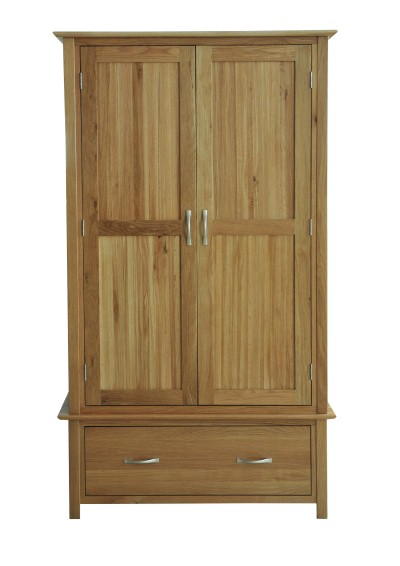 Madison Oak Double Wardrobe