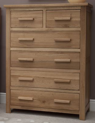 Hampshire Oak 2 Over 4 Chest