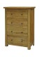Rutland Maine Oak 4 Drawer Chest