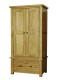 Rutland Maine Oak Double Wardrobe