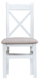 Taunton Oak White Painted Cross-Back Chair