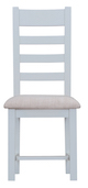 Taunton Oak Grey Painted Ladder-Back Chair