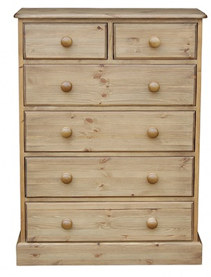 Cottage Pine 2 Over 4 Chest of Drawers